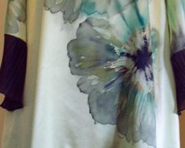 Sukienka /tunika/ z satyny JASNE KIWI