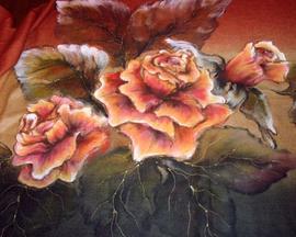 Szal róża