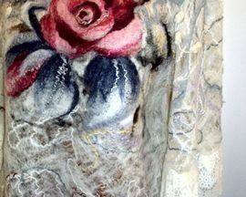 Ażurowa filcowana tunika-sukienka