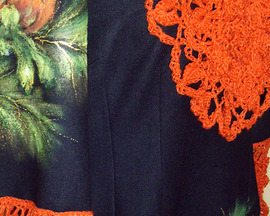 Tunika (sukienka) MAK, ŻABOT, KORONKA RĘCZNA
