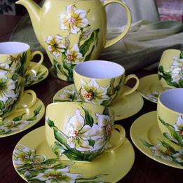 Serwis kawowo-herbaciany ŻONKIL BIAŁY