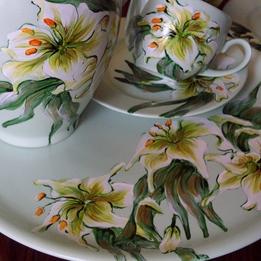 Serwis kawowo-herbaciany LILIA