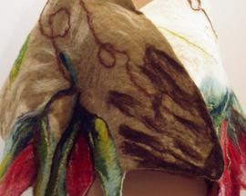Szal - Wełną malowane - Nuno filc