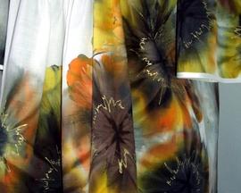 """Tunika - bluzka bawełniana HIBISKUS """"złota jesień"""""""