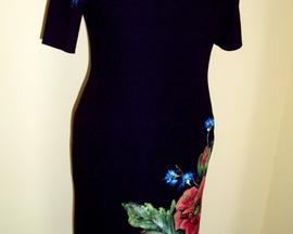 Sukienka z czarnej wełny MAK / CHABER