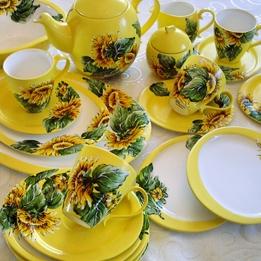 Serwis kawowo-herbaciany SŁONECZNIK żółty