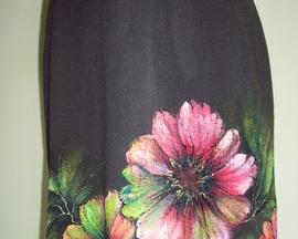 Sukienka z wełny HIBISKUS KORAL