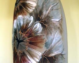 Suknia z wełny SZARY HIBISKUS