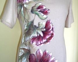 Sukienka z wełny POWÓJ BURGUND