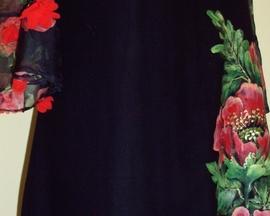 Sukienka z muślinu jedwabno-bawełnianego MAK, szyfon 3D