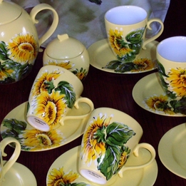 Serwis kawowo-herbaciany SŁONECZNIK, owal
