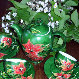 Serwis kawowo-herbaciany POISENCJA (gwiazda betlejemska)