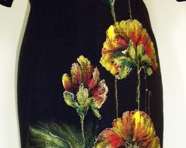 Suknia z wełny HIBISKUS JESIEŃ