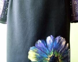 Spódnica wełniana HIBISKUS FIOLETOWY