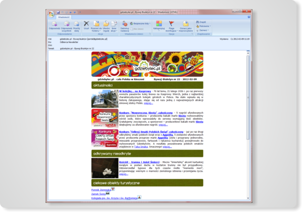 Newsletter elektroniczny - Bywaj Biuletyn