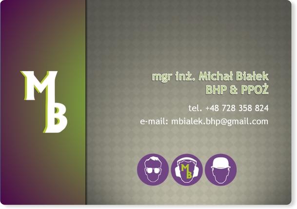 BHP & PPOŻ Michał BIałek - layout prezentacji PPT