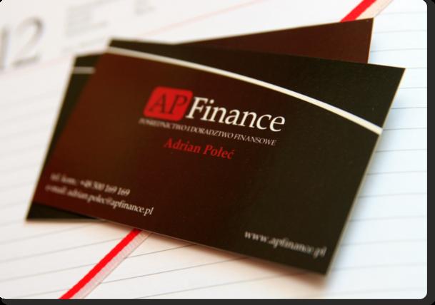 AP Finance - wizytówki