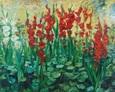 Kompozycja - Kwiaty 100na130 Olej, Płótnon 2001 rok