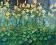 Lilie Wodne - Kompozycja 100na80, Płótno 2001 rok
