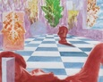 Akt z Szachownicą 92na64 rysunek 1997 rok