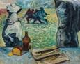 Przy Stole 130na100 Olej, Płótno 1999 rok