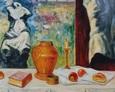 Przy Stole 130na100 Olej, Płótno 1998