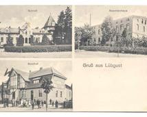 Przedwojenna widokówka wsi