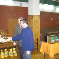 Tu odbieram puchar za zdobycie 1-miejsca 359 pkt Sosnowiec 2011 r
