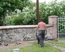 Domanice - remont muru