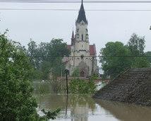 kościół przy najwyższym stanie wody