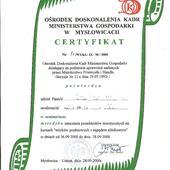 Certyfikat wykładowcy uprawniający do prowadzenia zajęć teoretycznych kursów KIEROWCY WÓZKÓW JEZDNIOWYCH