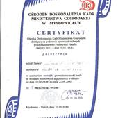 Certyfikat instruktora uprawniający do prowadzenia zajęć praktycznych kursów KIEROWCY WÓZKÓW JEZDNIOWYCH