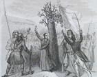 Grafika z XIX wieku przedstawiająca epizod z Insurekcji Kościuszkowskiej 1794 r.