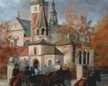 Cerkiew prawosławna w Miechowie.