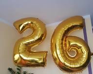 balony foliewe cyfry wysokość 1m