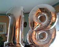 balony foliowe cyferki wys. 1m / hel lub powietrze