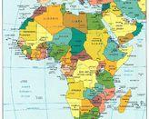 Afryka - mapa polityczna
