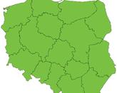 Polska - mapa konturowa