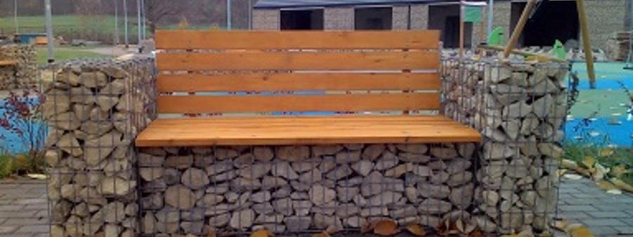 ławka z gabionów