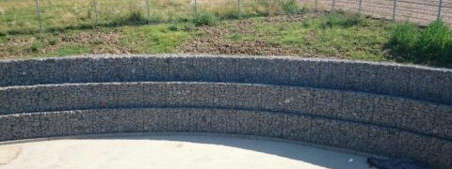 mur oporowy z gabionów