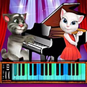 Talking Tom Piano Time - Zabawna gra na pianinie HTML5 dla dzieci i dorosłych. Spraw, by nasz cudowny Tom był jak najpiękniejszy i pomóż mu grać na pianinie dla swojej dziewczyny. Baw się dobrze.