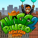 Amigo w Amigo Pancho 2! Oczyść drogę, aby Amigo mógł uciec! Unikaj niebezpieczeństwa wybuchu balonu, aby zmusić go do lotu w niebo. Kliknij obiekty, aby je usunąć.
