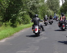 Na samym czele parady motocyklista z Powiatu Gryfino.
