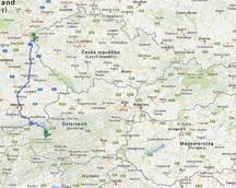 A to jest już trasa drugiego dnia jazdy - do Fusch ( Austria )