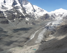 Widok na lodowiec Pasterze