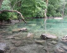 Dotarliśmy do mniejszego jeziorka Obersee