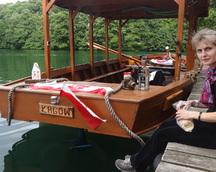 Odpoczywamy nad pięknym i czystym jeziorem Łagowskim