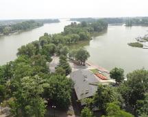 Widok na jezioro Gopło w Kruszwicy