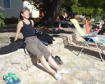 Jesteśmy na miejscu - po dojechaniu odpoczywamy na pobliskiej plaży