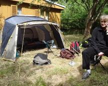 Dojechaliśmy - i namiot gotowy